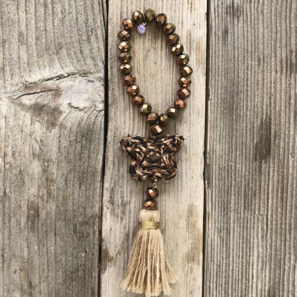 Bracelet perles de verre gold papillon bijoux boheme, sautoirs boheme, Jil d hostun, bague boheme, bague boheme chic, boho necklace, butterfly necklace, love necklace, bijoux de luxe