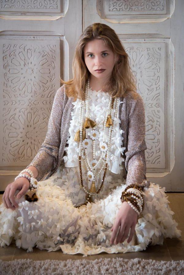 Sautoir perles Simone 3 Daisy iconiques