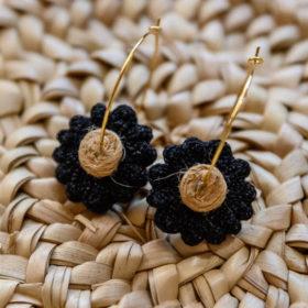 Paire de Boucles d'oreilles daisy Jil d hostun bijoux boheme
