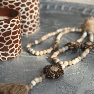 Sautoir woodstone Daisy leopard jil d hostun