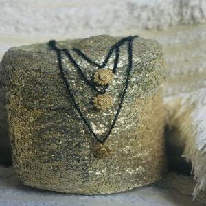 Little Daisy gold - perles de rocailles noires - bijoux bohème