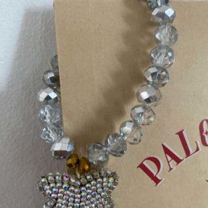 Bracelet ultra luxe perles de verre papillon strassJil D'Hostun